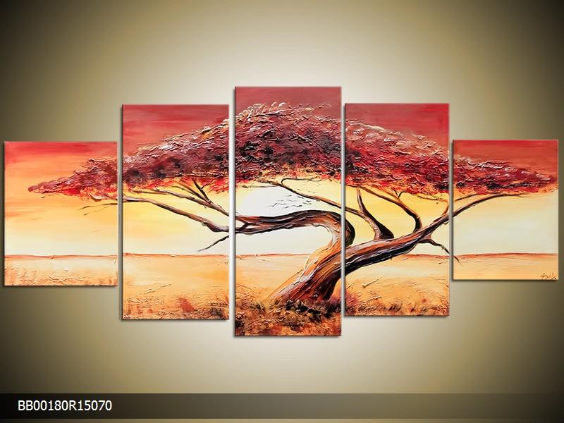 Ručně malovaný obraz stromu