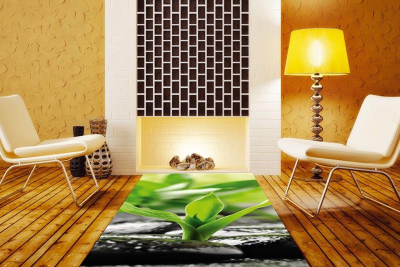 Samolepící fototapeta na podlahu-kameny, zen