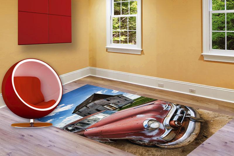 Samolepící fototapeta na podlahu-auto
