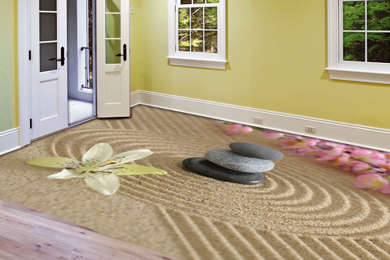 Samolepící fototapeta na podlahu-kameny zen