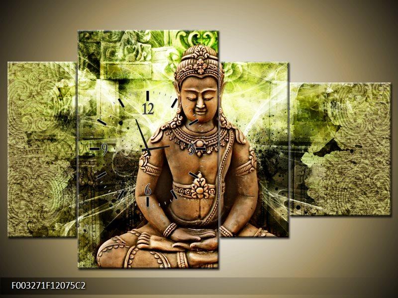 Obraz s hodinami Budha