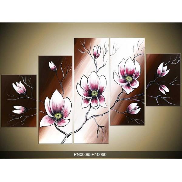 Obraz fialovo bílé magnolie
