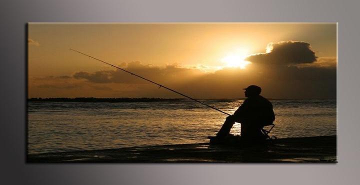 Obraz na zeď rybář