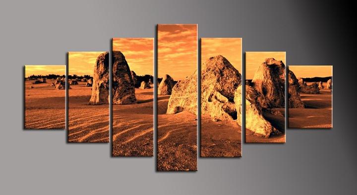 Obraz do bytu skály v písku