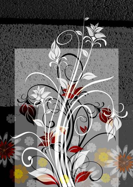 Obraz květin a ornamentů