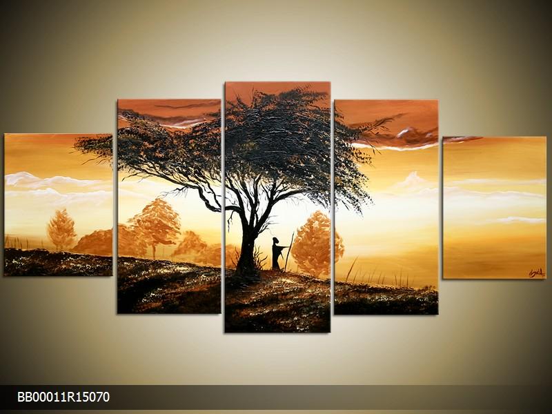 Ručně malovaný obraz strom