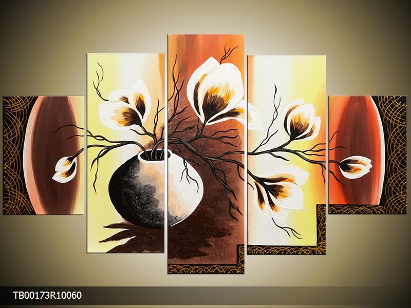 Obraz do bytu ručně malovaný květy ve váze