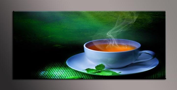 Obraz do bytu zátiší s čajem