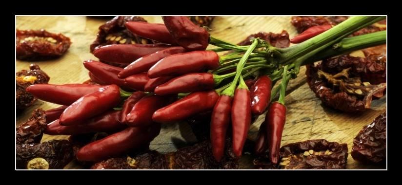 Obraz na zeď chilli papričky