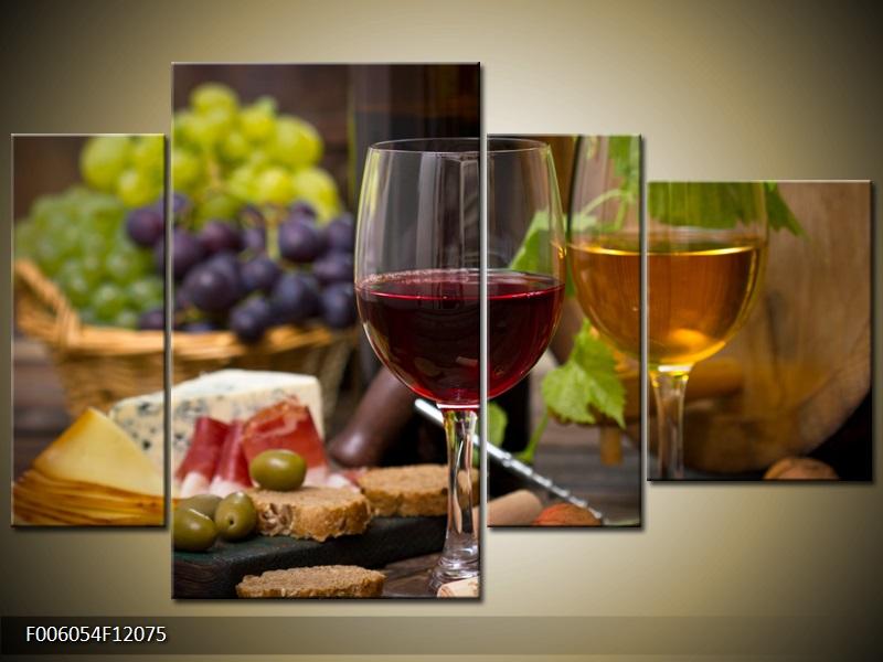 Obraz na stěnu zátiší s vínem
