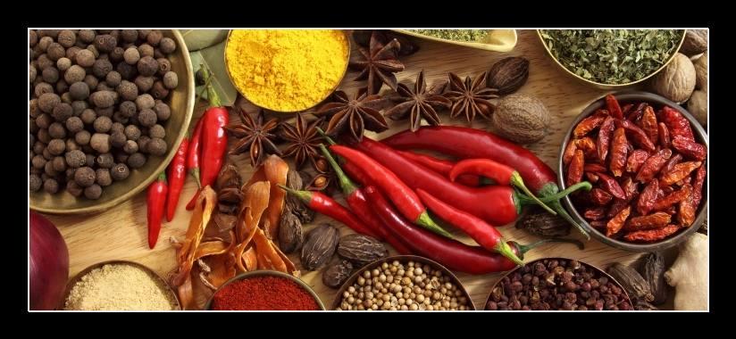 Obraz na zeď koření a chilli papričky