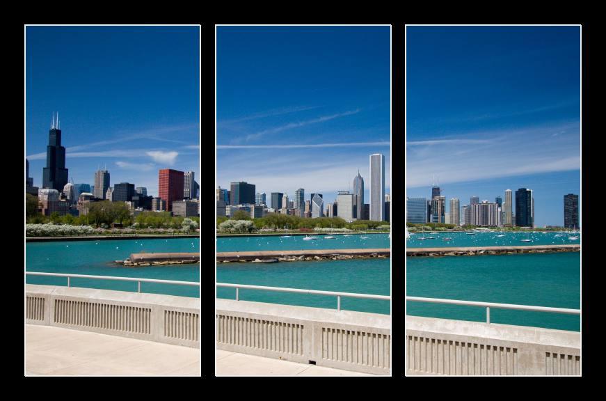 Obraz na zeď modré nebe nad Chicagem