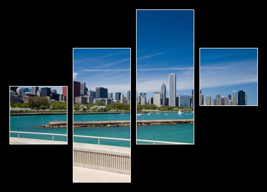 Obraz Chicago, modré nebe