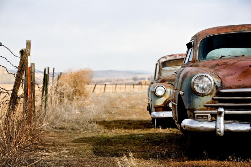 Fototapeta stará auta