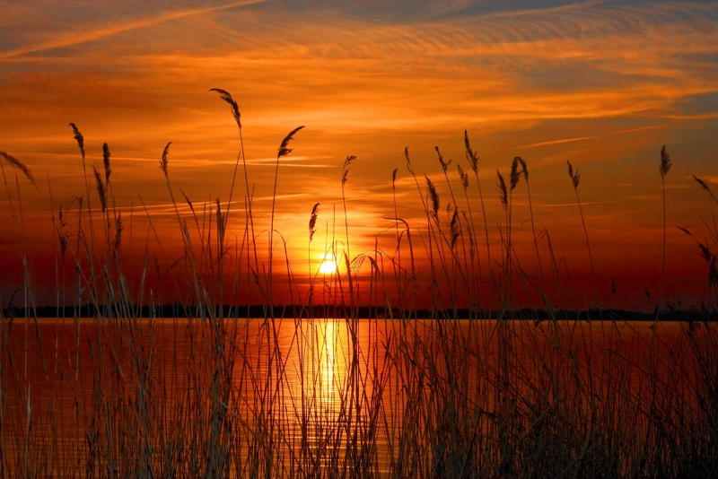 Fototapeta západ slunce nad vodou