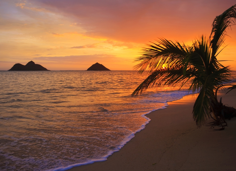 Fototapeta moře při západu slunce