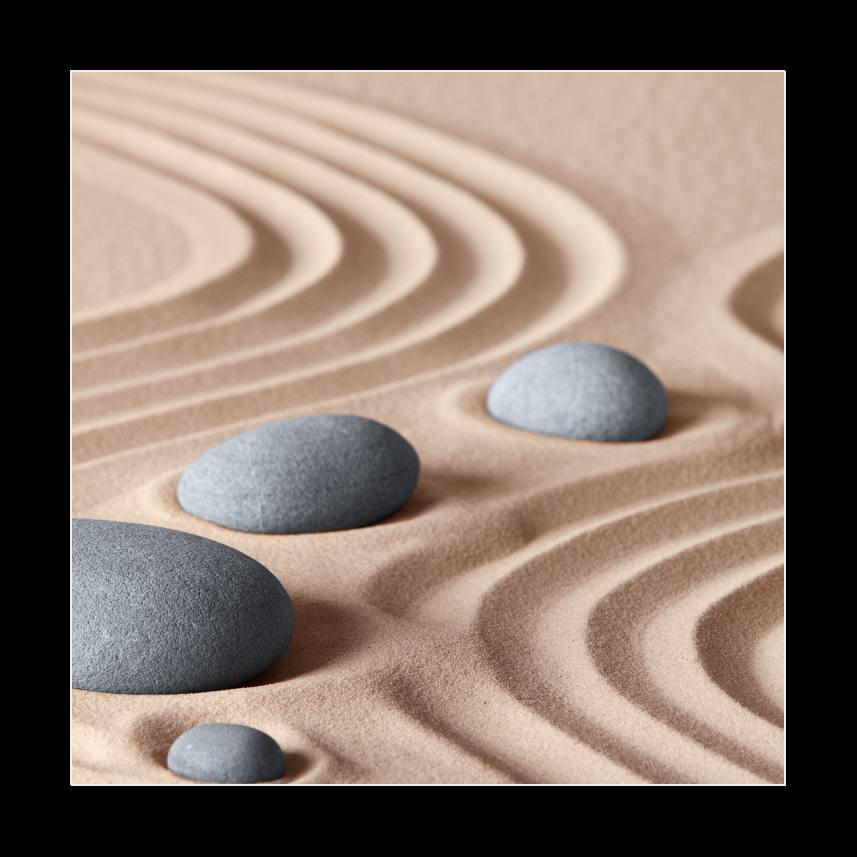 Obraz na skle kameny v písku