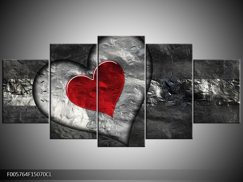 Obraz s hodinami abstrakce srdce