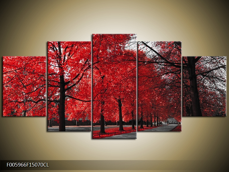Obraz s hodinami krajina se stromy