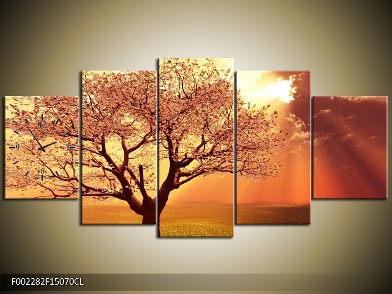 Obraz s hodinami strom