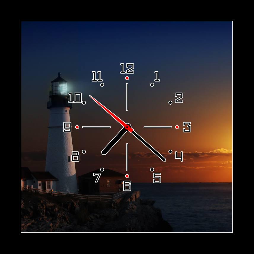 Obraz s hodinami maják