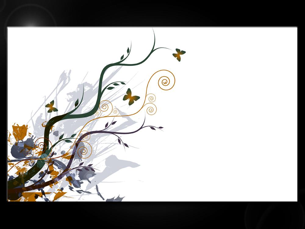 Obraz ornamentů a květů