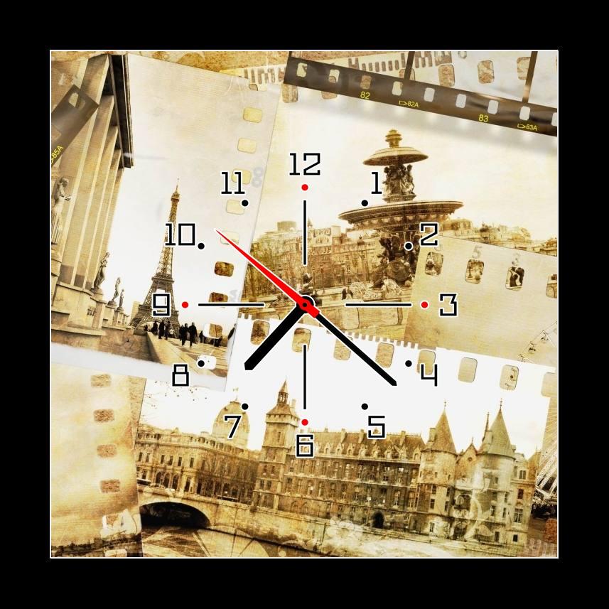 Obraz s hodinami fotografie města