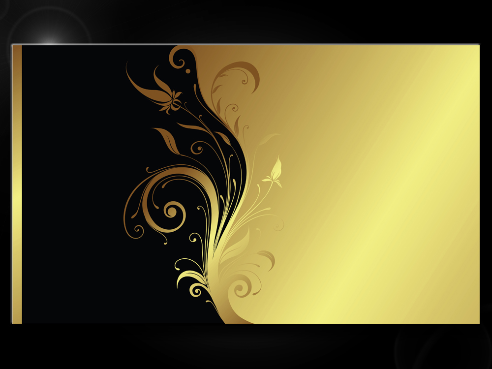 Obraz zlato černých ornamentů
