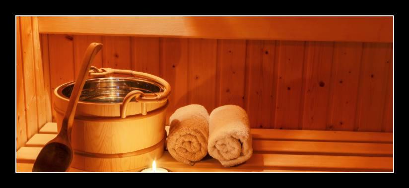 Obraz na skle sauna