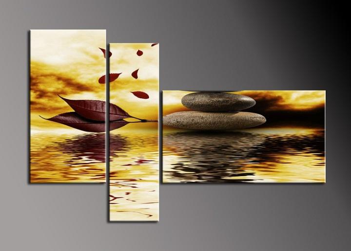 Obraz do bytu listy a kameny