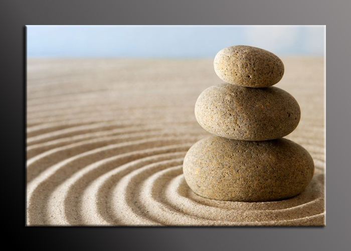 Obraz na stěnu kameny v písku