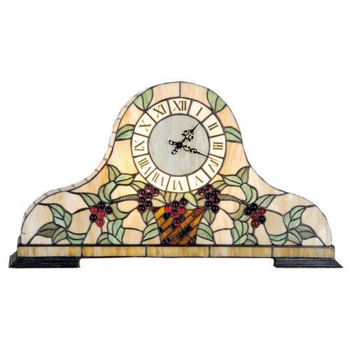 Tiffany stolní hodiny/lampa