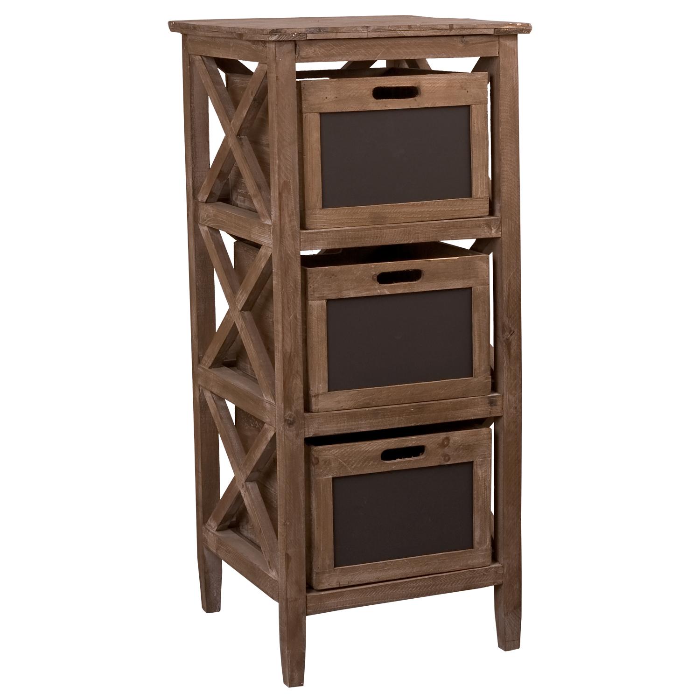 Dřevěná skříň se šuplíky