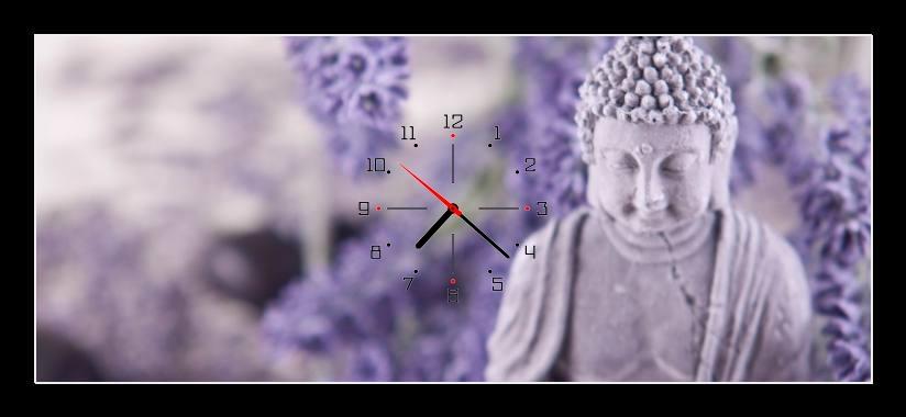 Obraz s hodinami - buddha