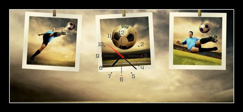 Obraz s hodinami - fotbal