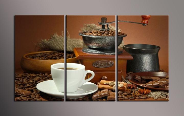 Obraz do bytu mlýnek a káva