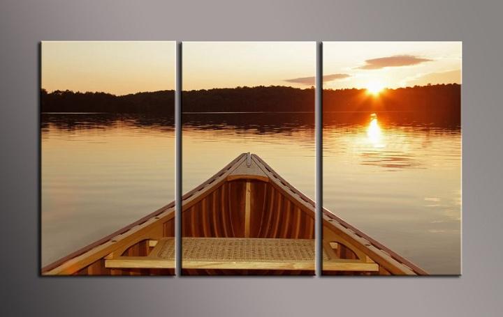 Obraz do bytu dřevěná loďka