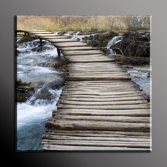Obraz do bytu dřevěný most