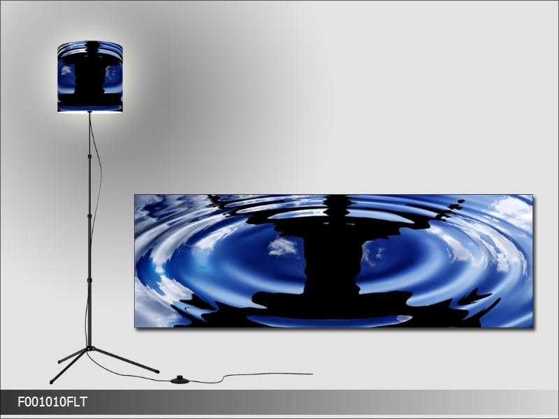 Lampa s motivem muže u vody