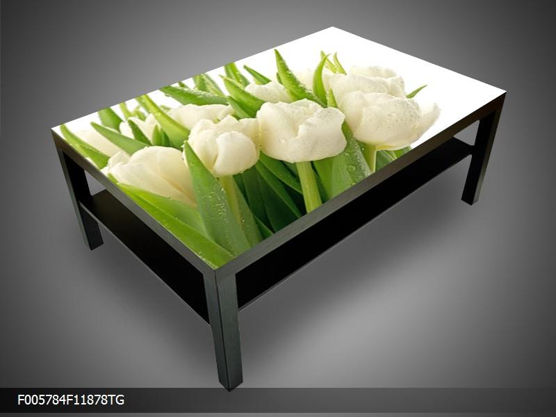 Konferenční stolek - bílé tulipány