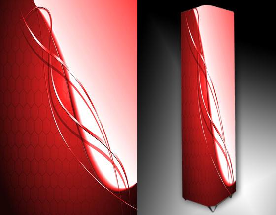 Lampa - červená abstrakce