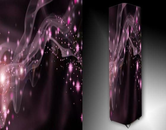 Lampa - fialová abstrakce