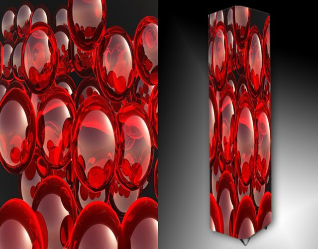 Lampa - červené kuličky