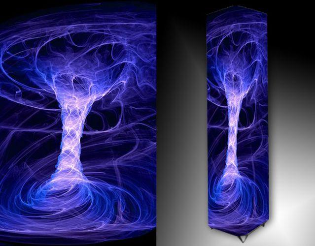 Lampa - modrá abstrakce