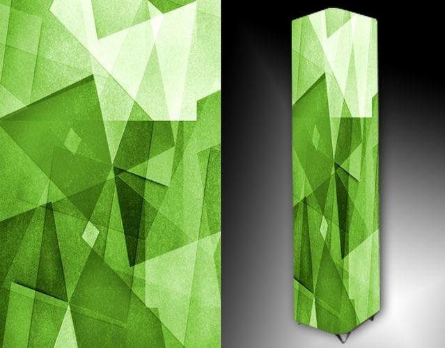 Lampa - zelená abstrakce