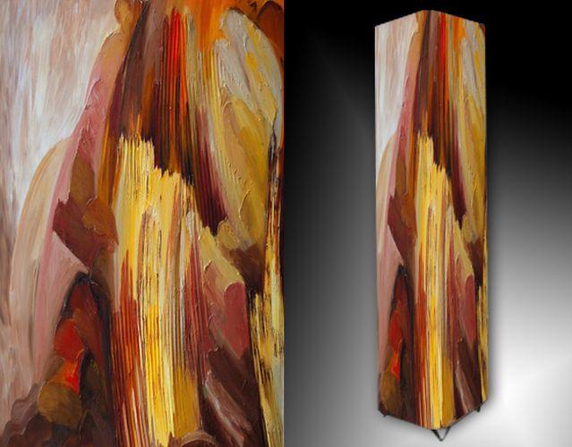 Lampa - malířská abstrakce