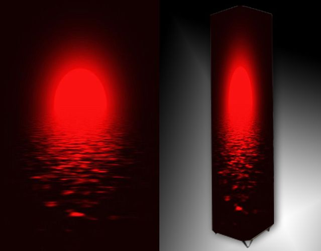 Lampa - červené slunce