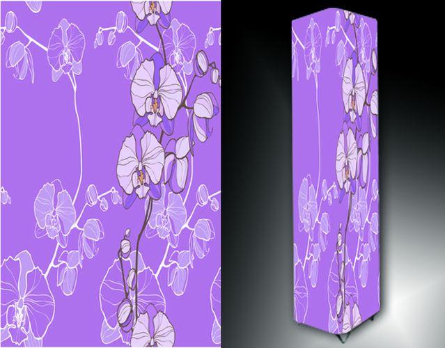 Lampa - fialová s květy