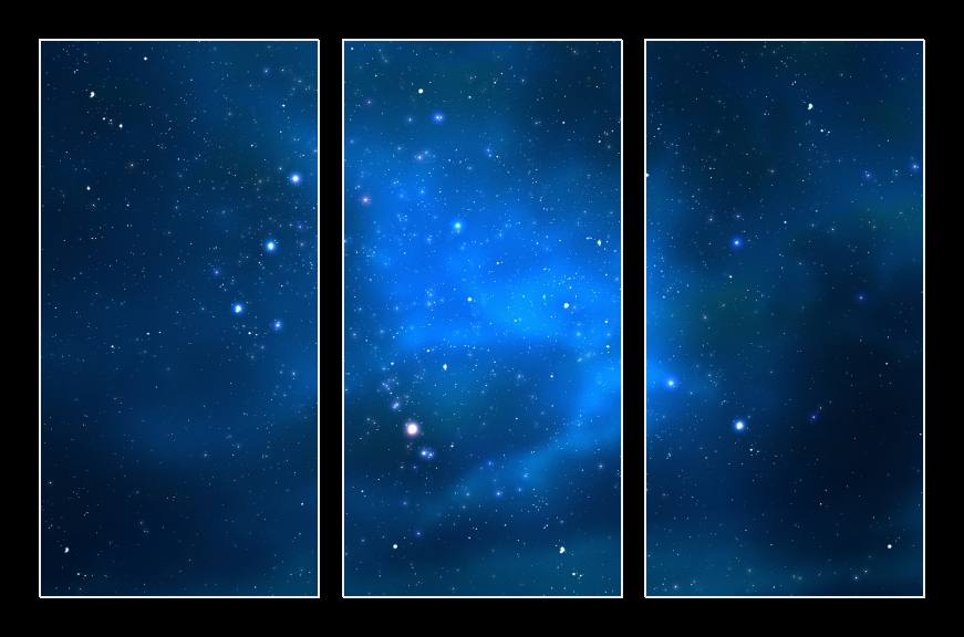 Obraz na zeď hvězdné nebe