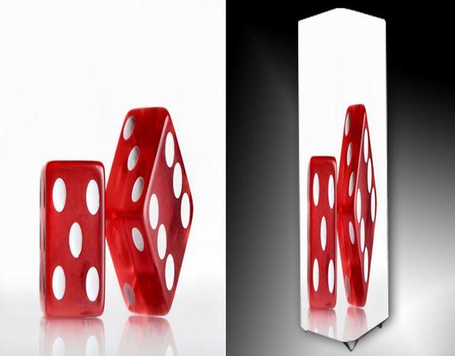 Lampa - červené hrací kostky